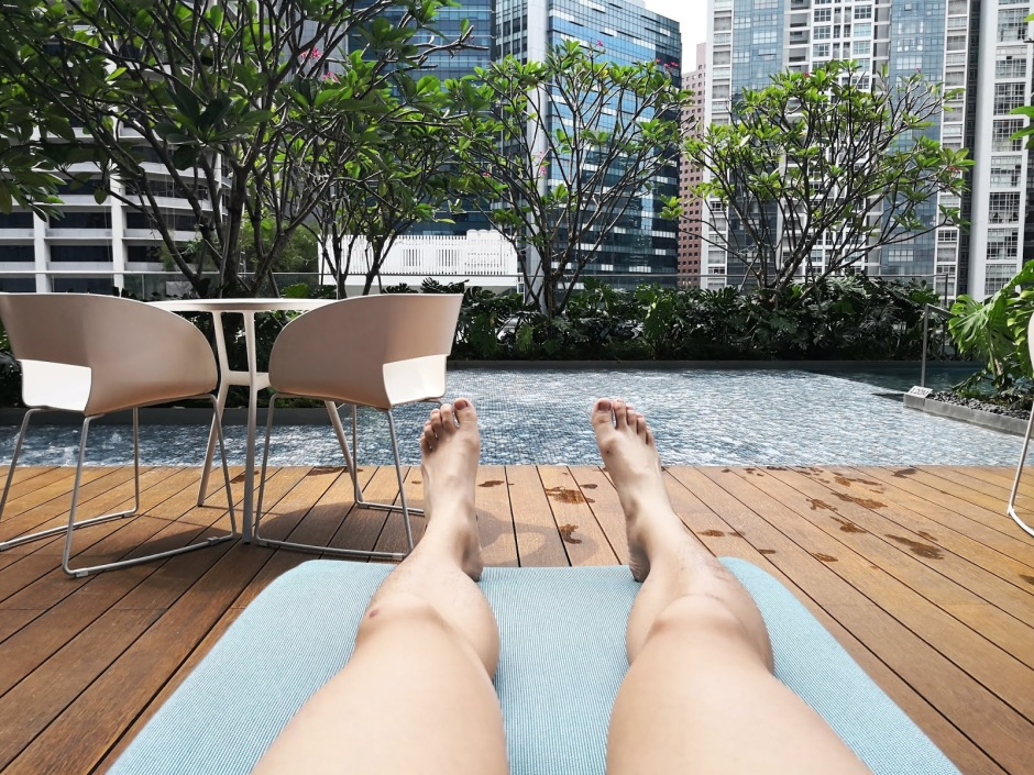 Chilling at Sofitel Singapore City Centre Hotel Poolside