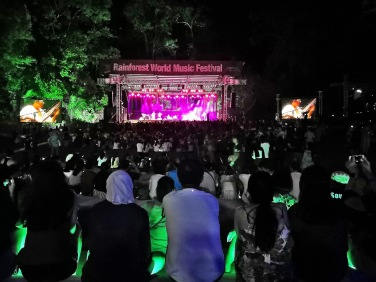 Watching music performance at Rainforest World Music Festival 2018