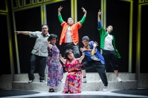 A still shot of the Pangdemonium theatre company in action at DBS SPARKS The Musical (Photo Credit: DBS)