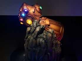 Thanos infinity gauntlet at Marvel Studios: Ten Years of Heroes Exhibition