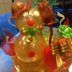 Let It Go Snowman Sugar Showpiece