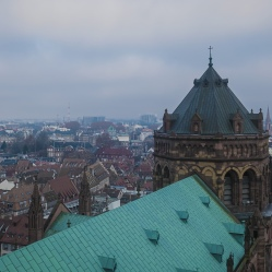 Overview of Strasbourg Cathedral of Notre-Dame, France