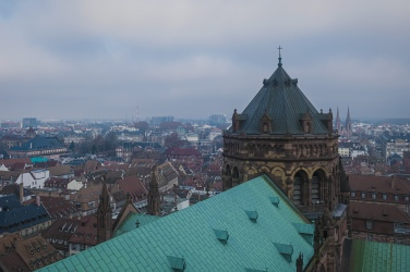 View from top of Strasbourg Cathedral