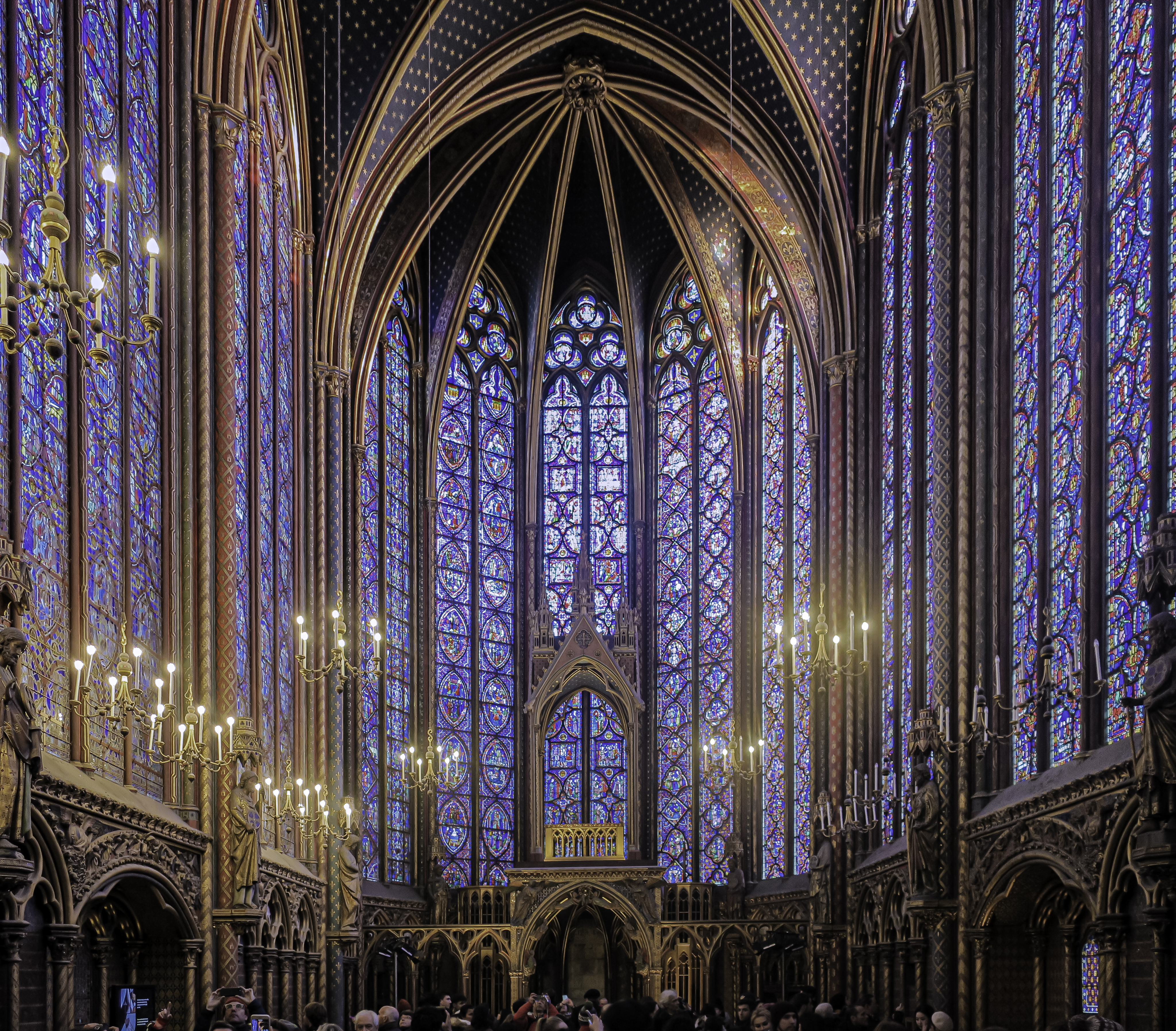 Sainte-Chapelle interior stained glass