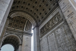 Underneath Arc de Triomphe Structure