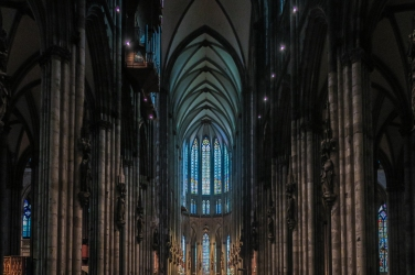 Cologne Cathedral interior hallway