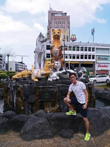 Cat Statues in the city of Kuching Malaysia