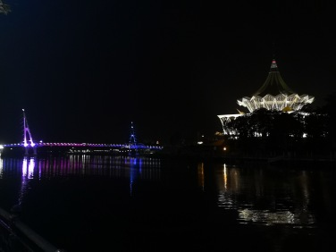 Beautiful view at Kuching Waterfront